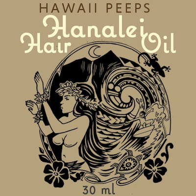 Hanalei Hair Oil natural hair care from Kauai